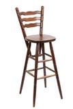 Stara drewniana prętowa stolec, odizolowywająca na bielu Fotografia Stock