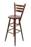Stara drewniana prętowa stolec, odizolowywająca na bielu Zdjęcia Royalty Free