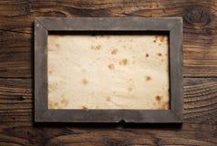 Stara drewniana rama zdjęcie stock