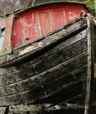 Stara drewniana rzeczna barka Obraz Stock