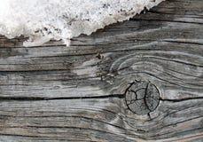 Stara drewniana tekstura z naturalnymi wzorami Wśrodku drzewnego tła Stara grungy i wietrzejąca popielata drewniana ściana zaszal Fotografia Stock
