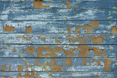 Stara drewniana tekstura z podławą farbą Fotografia Royalty Free