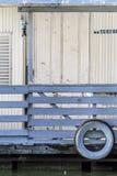 Stara Drewniana tratwy buda Na Sava rzece, Belgrade, szczegół Fotografia Royalty Free