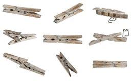 Stara drewniana ubrania klamerka Obrazy Stock