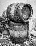 Stara drewniana wino beczka fotografia royalty free
