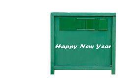 Stara drewniana zieleni deska Zdjęcie Stock