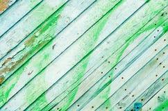 Stara drewniana zielona tekstura, tło dla projekta Zdjęcie Royalty Free