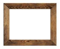 Stara drewno rama odizolowywająca obrazy royalty free