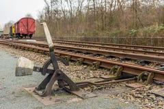 Stara działająca linii kolejowej zmiana Obraz Stock