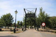 Stara dziejowa śluzy instalacja od rzecznego IJssel miasto Zwolle w holandiach, nowadays używać jako zabytek obraz stock