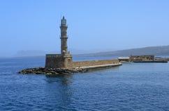 Stara Egipska latarnia morska w Chania Obraz Royalty Free