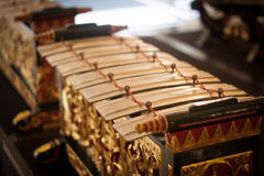 Stara egzotyczna tradycyjna gamelan muzyka od Java Indonesia Obrazy Stock