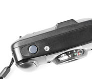 Stara ekranowa plastikowa kamera odizolowywająca na bielu Fotografia Royalty Free