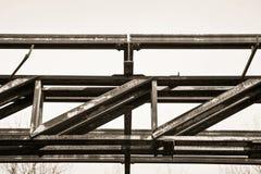 Stara żelazna struktura stara zaniechana fabryka nineteenth cen Fotografia Royalty Free