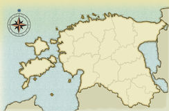 stara Estonia pełnoletnia mapa Obraz Royalty Free