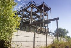 stara fabryka budynek Obraz Royalty Free