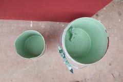 Stara farba konserwuje gotowego disposed Zdjęcie Royalty Free