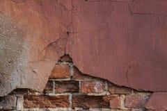 Stara farba na ściana z cegieł Obrazy Stock