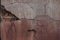 Stara farba na ściana z cegieł Zdjęcie Stock