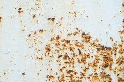 Stara farba na ośniedziałej metal teksturze Obraz Stock
