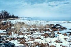 Stara Fińska tama blisko wioski Pyatireche, Leningrad region, Rosja Fotografia Royalty Free