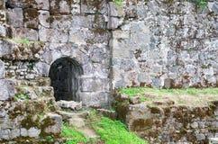 Stara forteca ściana obraz royalty free