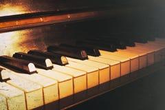 Stara fortepianowa klawiatura fotografia stock