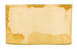 Stara fotografii tekstura z plamami i narysami Pusty retro papier obrazy royalty free