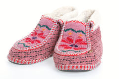 stara futerkowa miękki bucik ciepła Fotografia Stock