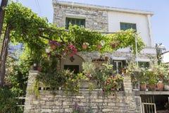 Stara górska wioska Pano Lefkara Cypr Antyczny kamienny hous Zdjęcia Royalty Free