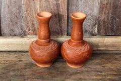 Stara gliniana ceramiczna waza Fotografia Stock