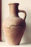 Stara gliniana ceramiczna waza obrazy royalty free