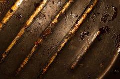 stara grill uszkadzająca niecka Fotografia Royalty Free