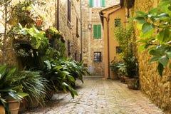 Stara grodzka aleja w Tuscany fotografia royalty free