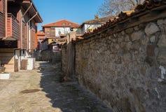 Stara Grodzka Nessebar fasta food ulica Obraz Stock