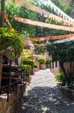 Stara grodzka ulica w Tossa De Mar zdjęcie stock