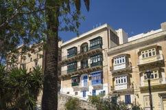Stara grodzka ulica w Valletta, Malta zdjęcia stock