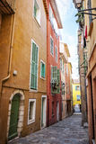 Stara grodzka ulica w villefranche-sur-mer Obrazy Stock