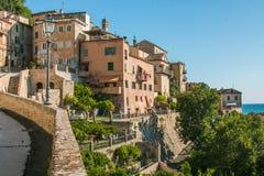 Stara Grottammare wioska na Adriatic morzu Obrazy Stock