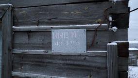 Stara grunge jata w Rosyjskiej wiosce zbiory wideo