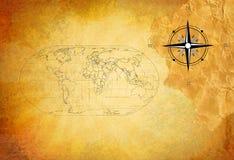 stara grunge mapa Zdjęcia Royalty Free