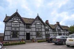 Stara Hall połówka Cembrował budynek w targowym miasteczku Sandbach Anglia Fotografia Royalty Free