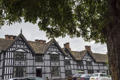 Stara Hall połówka Cembrował budynek w targowym miasteczku Sandbach Anglia Zdjęcie Stock