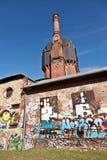 Stara historyczna watertower budowa cegły Obrazy Stock