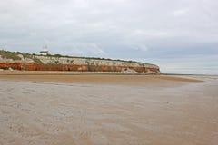 Stara Hunstantom plaża, Norfolk Zdjęcia Stock