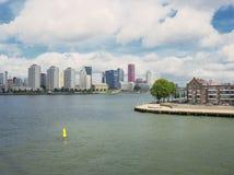 Stara i nowa linia horyzontu Rotterdam Obraz Royalty Free