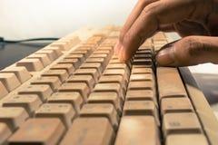 Stara i rocznik klawiatura Obraz Royalty Free