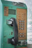 Stara jawnego telefonu karta i działający Obraz Royalty Free