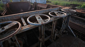 Stara kędziorek kontrola dla taborowego zbiornika Obraz Stock