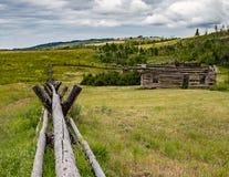 Stara kabina w Wyoming Obraz Stock